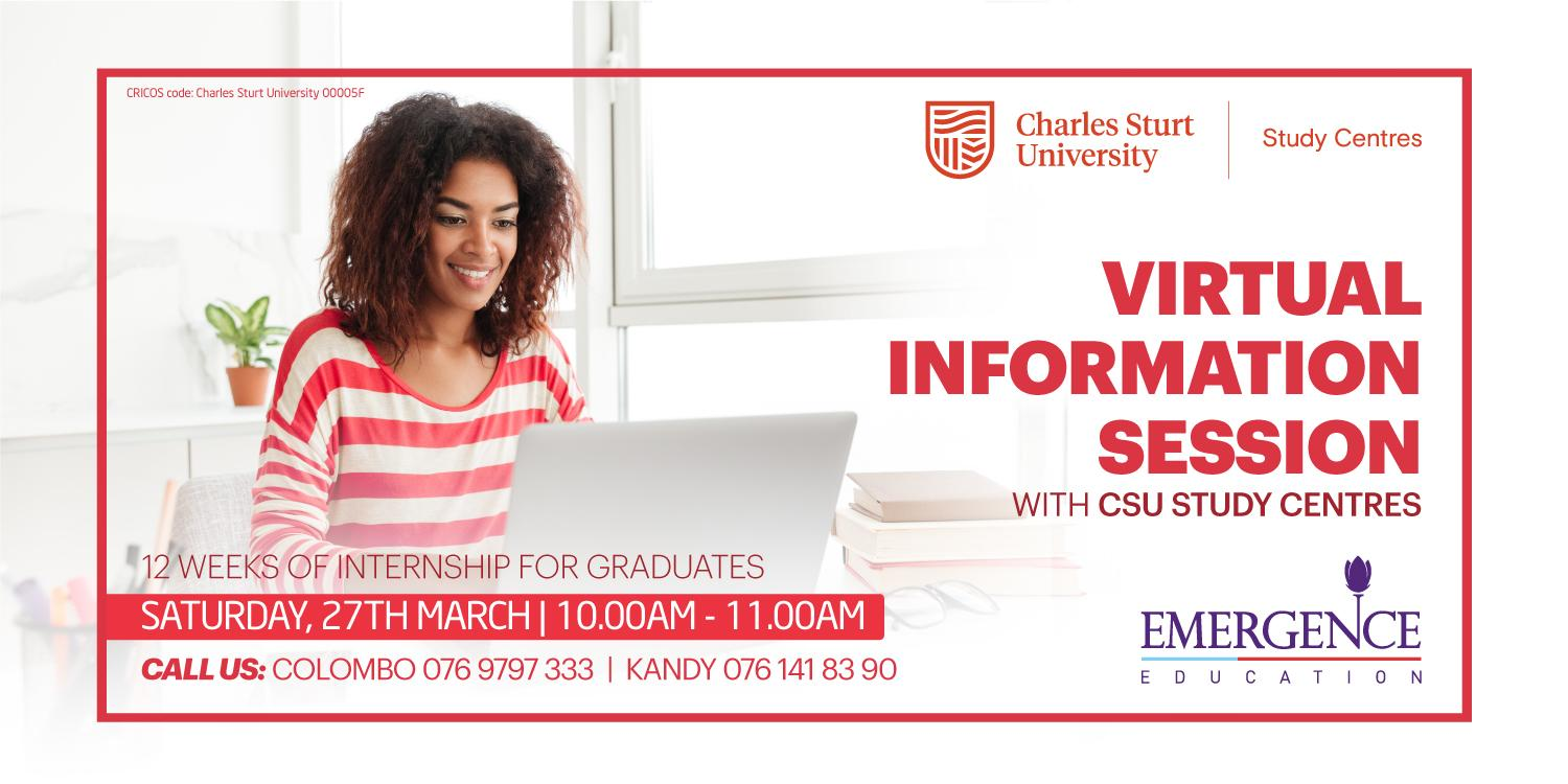 Virtual Information Session with CSU Study Centres
