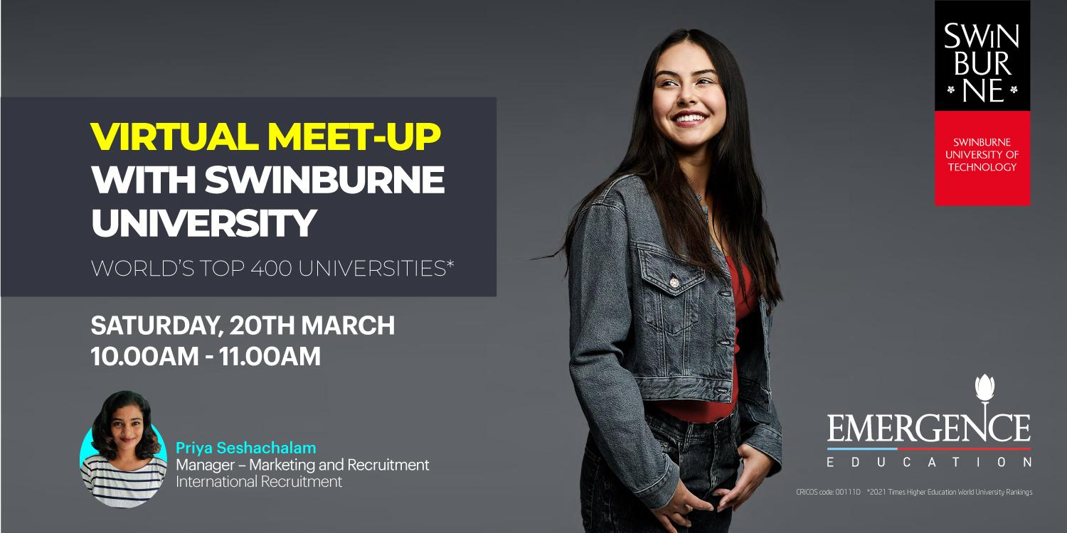VIRTUAL MEET-UP WITH SWINBURNE UNIVERSITY